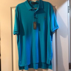 NWT Polo Ralph Lauren Men's blue collar shirt XXL
